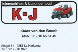 Vrolijke Strijders Sponsor K-J Tuinmachines & Klusonderhoud