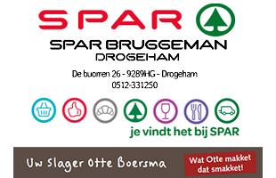 Vrolijke Strijders Sponsor Spar Bruggeman Drogeham